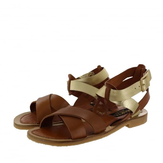 Womens X-Strap Flat Sandal 6682L Tan