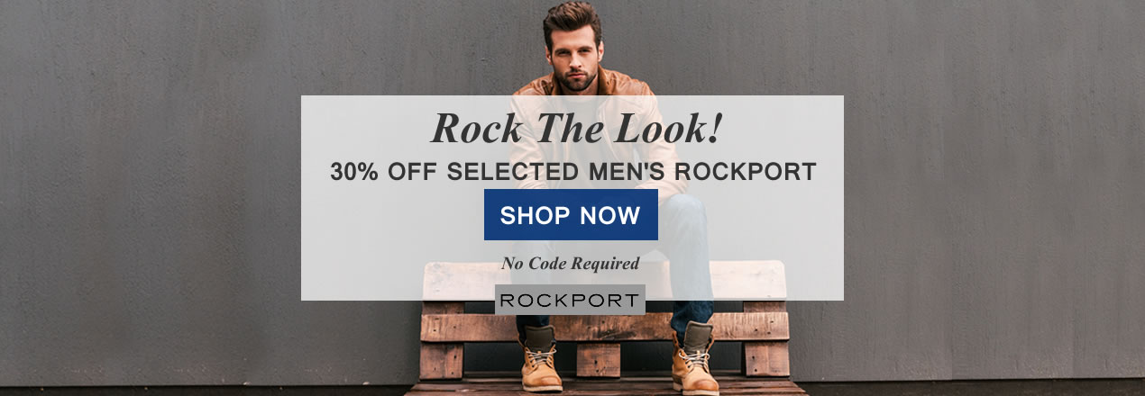 30% Off Men's Rockport