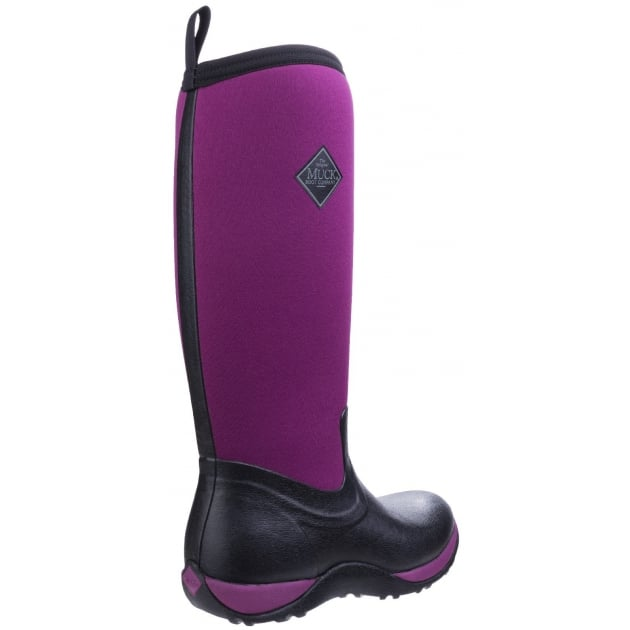 Muck Boots Arctic Adventure Pull On Wellington Boot - Black/Maroon