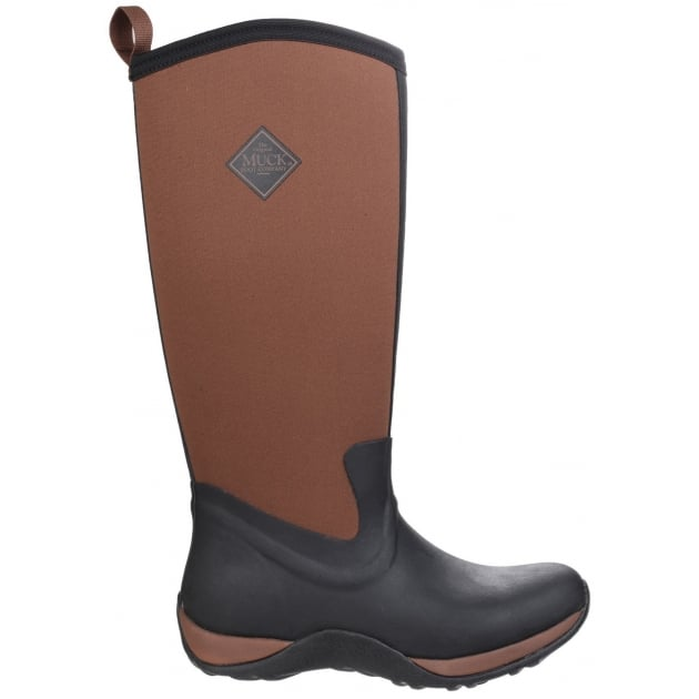 Muck Boots Arctic Adventure Pull On Wellington Boot - Black/Tan