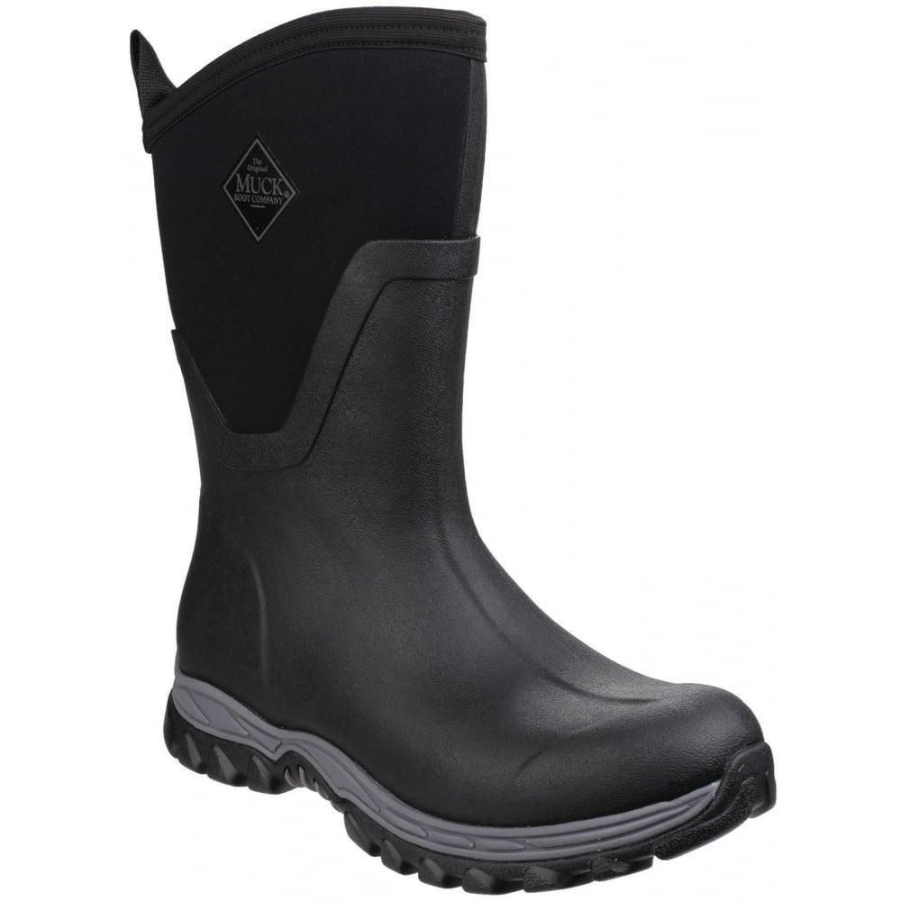 Arctic Sport Mid Pull On Wellington Boot Black Black
