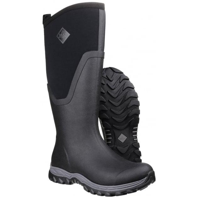 Arctic Sport Tall Pull On Wellington Boot - Black/Black