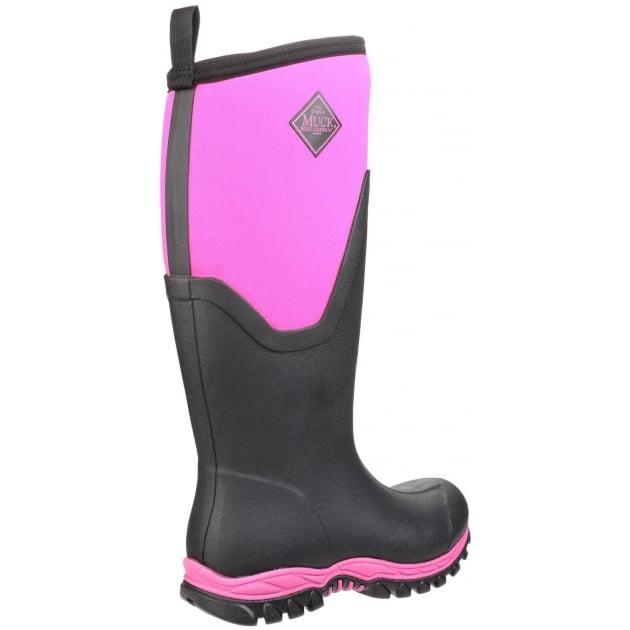 Arctic Sport Tall Pull On Wellington Boot - Black/Pink