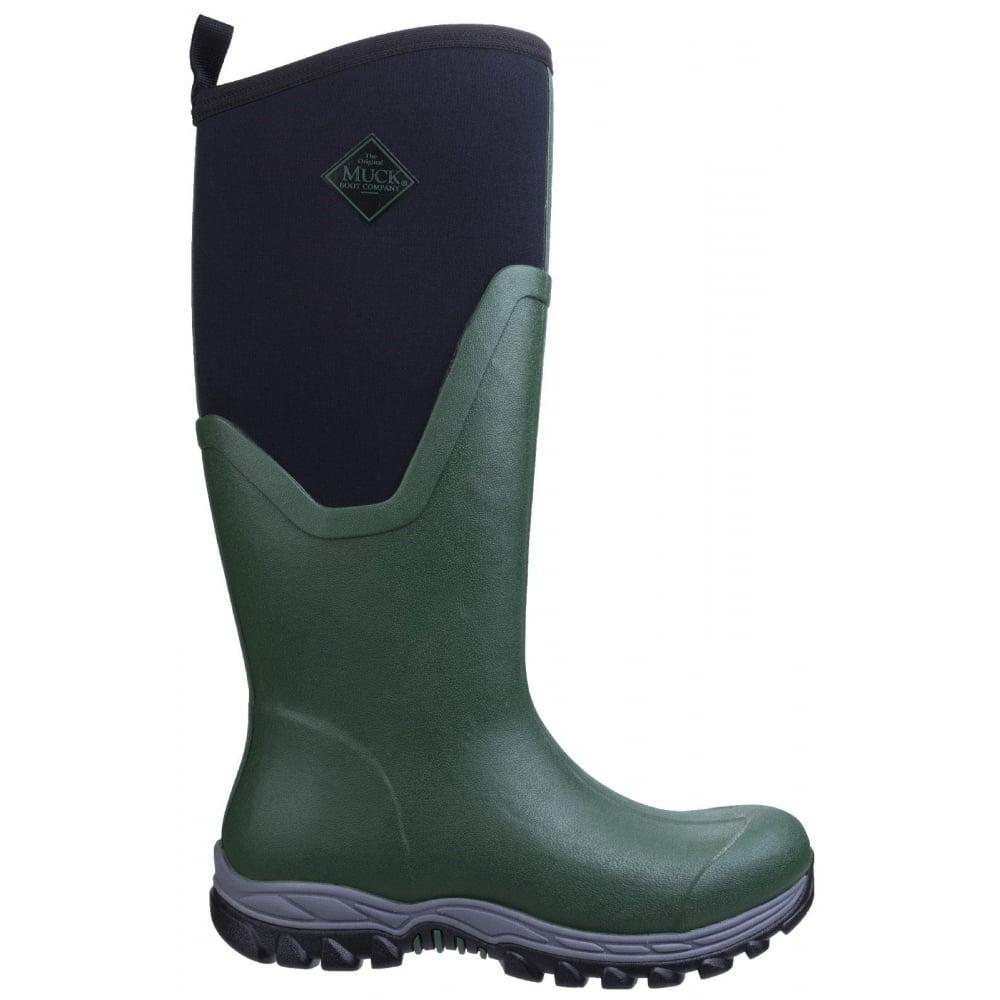 Arctic Sport Tall Pull On Wellington Boot Green Green
