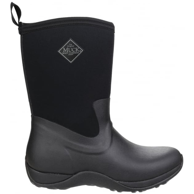 Arctic Weekend Pull On Wellington Boot - Black/Black