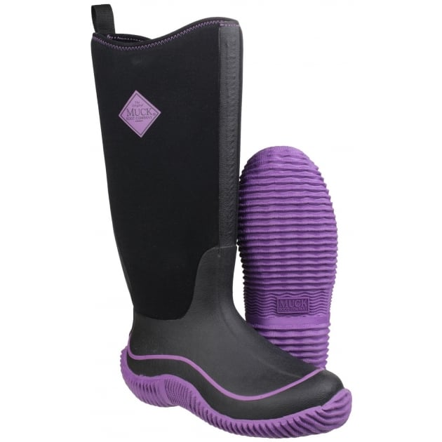 Muck Boots Hale Womens Pull On Wellington Boot - Black/Purple
