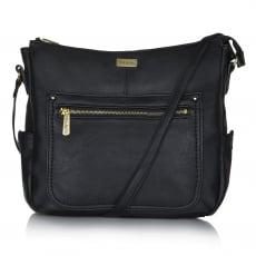 Ollie & Nic Annie Large Hobo Handbag Black