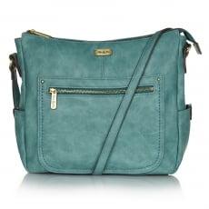 Ollie & Nic Annie Large Hobo Handbag Turquoise