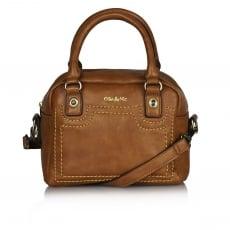 Ollie & Nic Cora Mini Bowler Handbag Tan