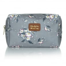 Ollie & Nic Daisy Cosmetic Bag Grey