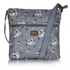Ollie & Nic Daisy Large Across Body Handbag Grey
