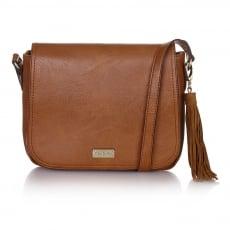 Ollie & Nic Jesse Large Saddle Handbag Tan