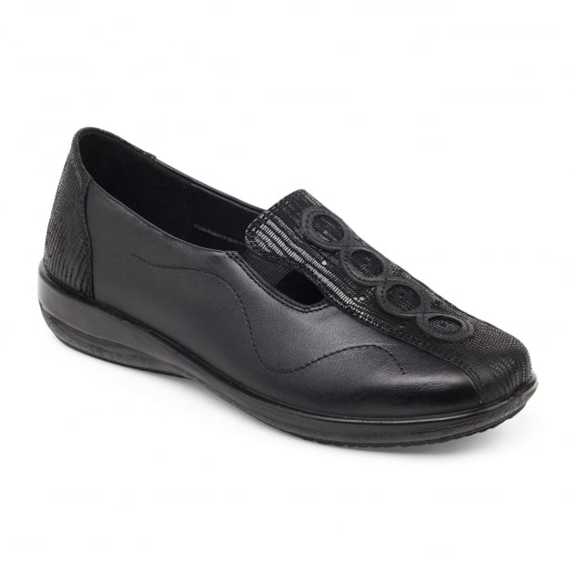 Padders Adora 653 - Ee/Eee Fit Black Shoes