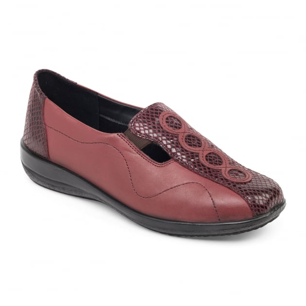Padders Adora 653 - Ee/Eee Fit Bordeaux Shoes