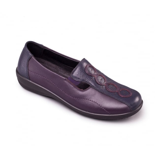 Padders Adora 653 - Ee/Eee Fit Navy/Purple Shoes