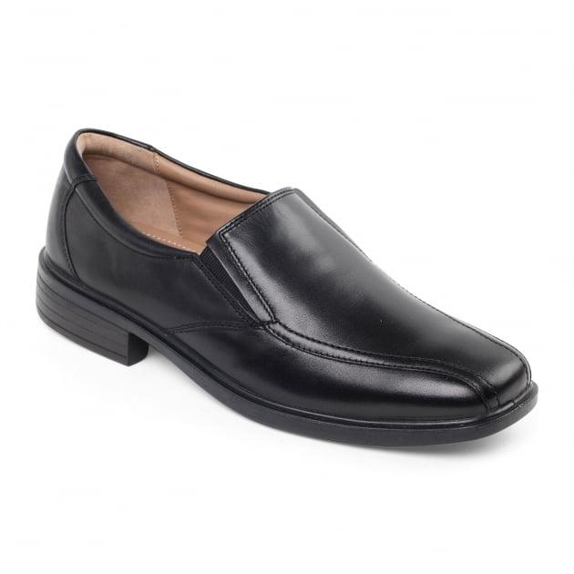 Padders Alex 144 Black Polished Shoes