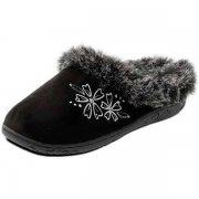 Padders Anika 443 Ee Fit Black Slippers