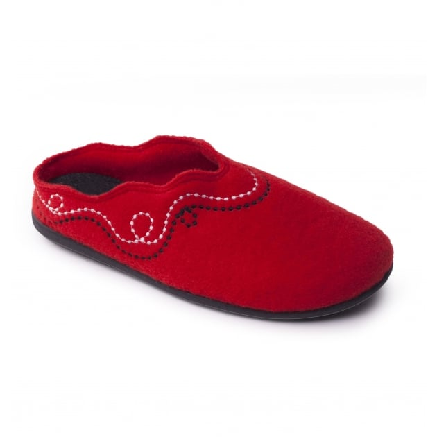 Padders Aspen 4006 Red Slippers