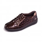 Padders Atom 240 - E Fit Brown Combination Shoes