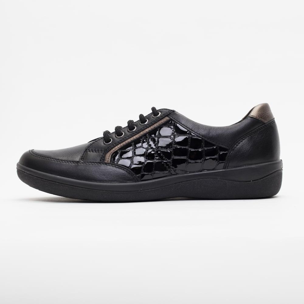 Padders Atom Womens Black Croc Shoes Free Returns At