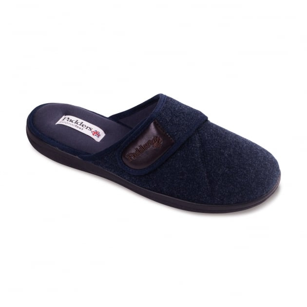 Padders Baxter 423 - G Fit Navy Slippers