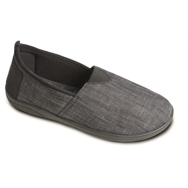 Padders Blake Black Slippers