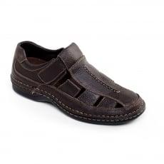 Padders Breaker Dark Brown Milled Sandals