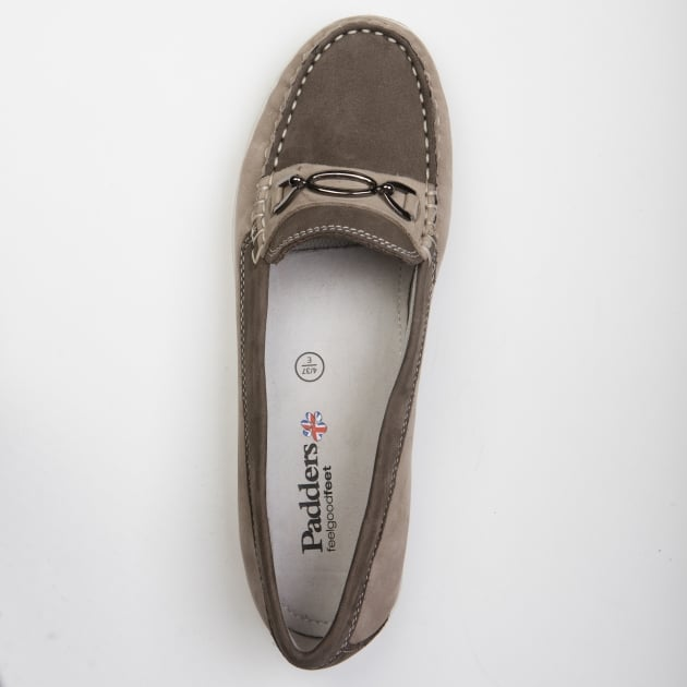 Padders Brighton Grey Nubuck Shoes