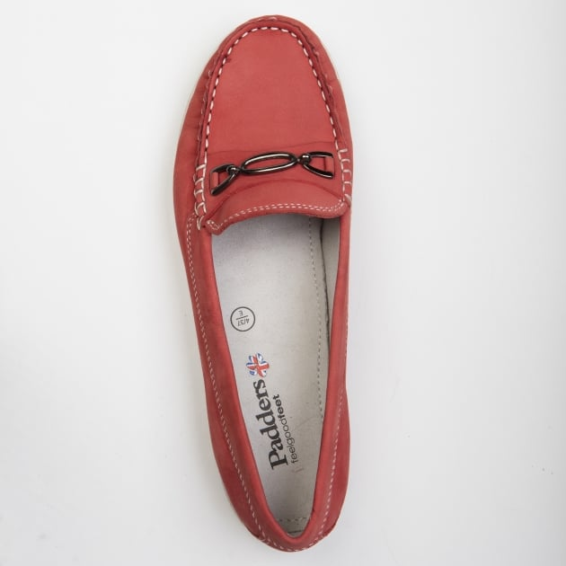 Padders Brighton Red Nubuck Shoes