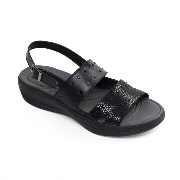 Padders Cameo Black Combination Sandals