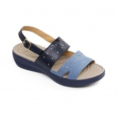 Padders Cameo Navy/Combi Sandals
