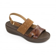 Padders Cameo Tan Combination Sandals