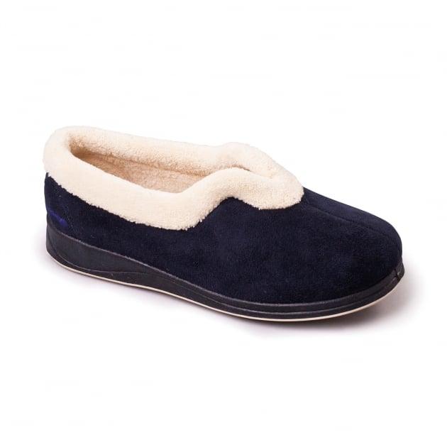 Padders Carmen Navy Slippers