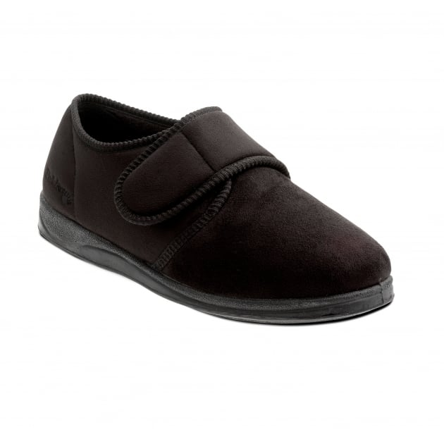 Padders Charles 411 G Fit Black Slippers