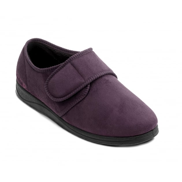 Padders Charles 411 G Fit Burgundy Slippers
