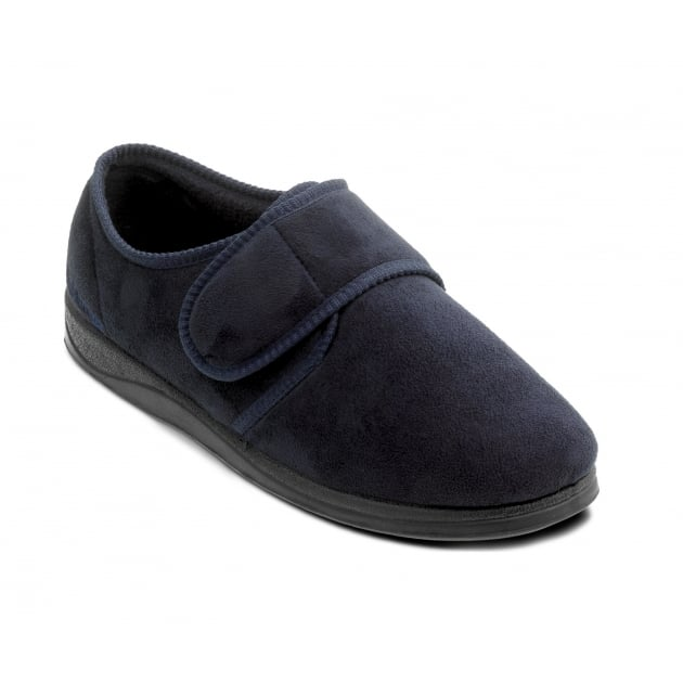 Padders Charles 411 G Fit Navy Slippers