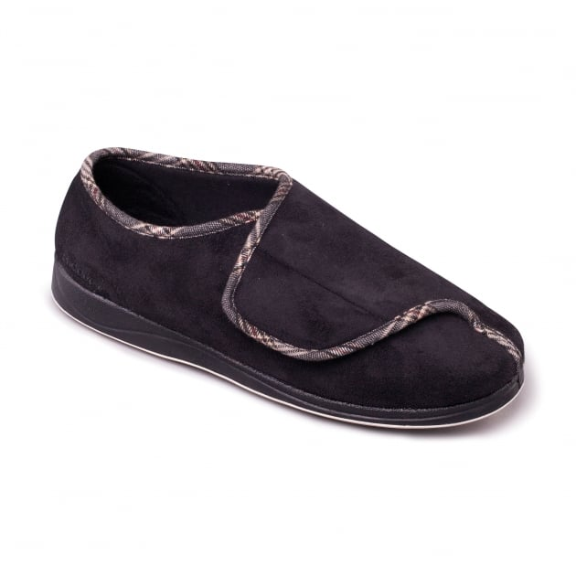 Padders Chris 428 - G Fit Black Slippers