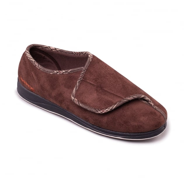 Padders Chris 428 - G Fit Dark Brown Slippers
