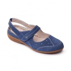 Padders Donna Denim (Blue) Shoes