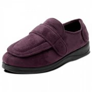 Padders Enfold 427 Mens Ee Fit Burgundy Slippers