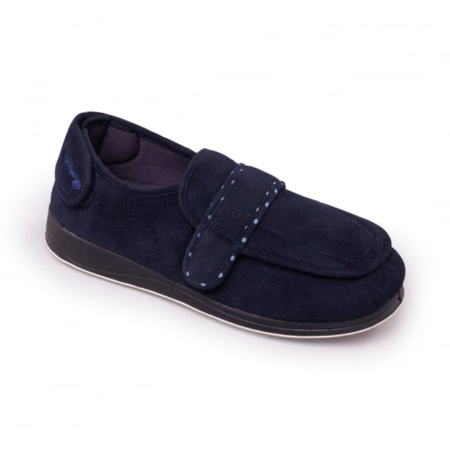 Padders Enfold 427W - Ee Fit Navy Slippers