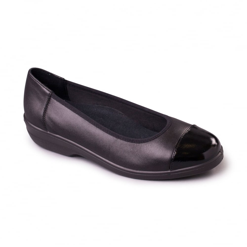 padders fearne womens black patent shoes free returns at