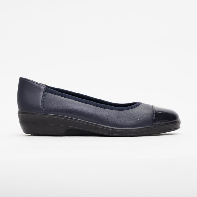 Padders Fearne Navy Patent Shoes