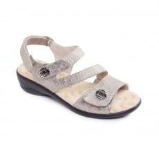 Padders Grace Metallic Combi Sandals