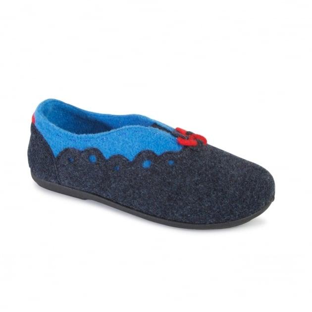 Padders Hannah 4009 Navy Slippers