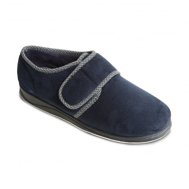 Padders Harry Navy Slippers