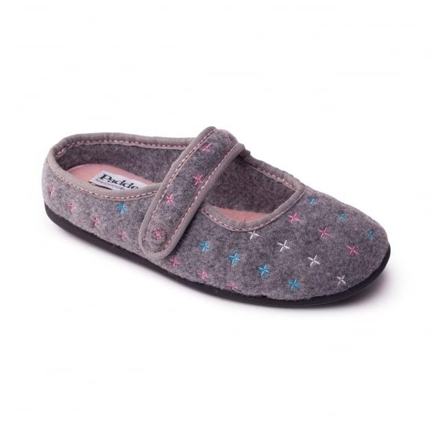 Padders Heidi 4007 Grey Slippers