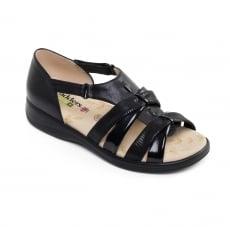 Padders Horizon Black Combination Sandals
