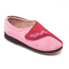 Padders Hug Ee Fit 424 Pink/Red Slippers