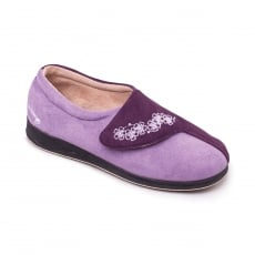 Padders Hug Ee Fit 424 Purple Combination Slippers